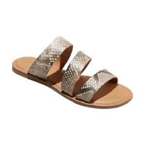 Universal Thread Gray Sammi 3 Strap Sandals